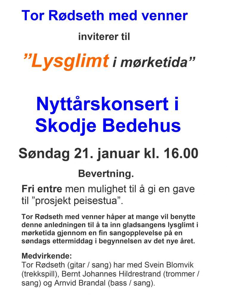 Nyttårskonsert Skodje bedehus 2018 - Plakat